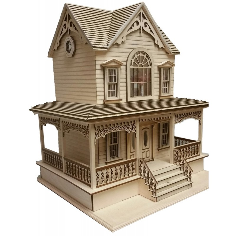 Little Briana Victorian Country Cottage Dolls House 1:24 Lazer Cut Flat Pack Kit