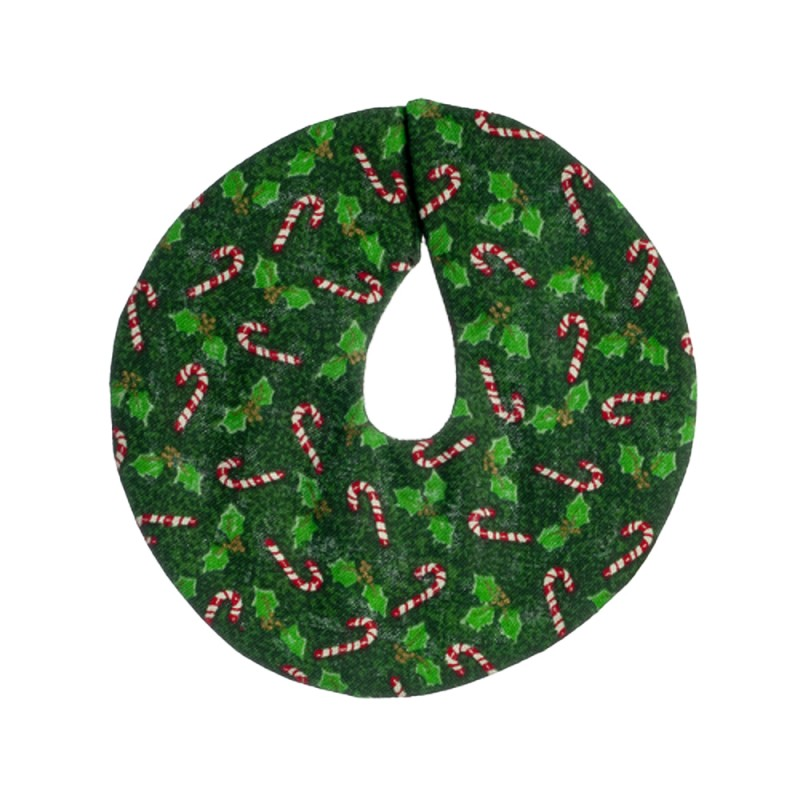 Dolls House Green Candy Cane Christmas Tree Skirt Decoration 1:12 Accessory