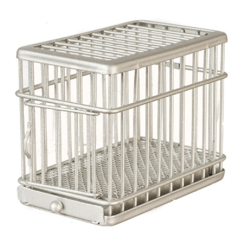 Dolls House 1:24 Dog Crate Cage Miniature Pet Accessory