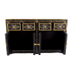 Dolls House Handpainted Chinese Sideboard Cabinet Fine Miniature Furniture Black