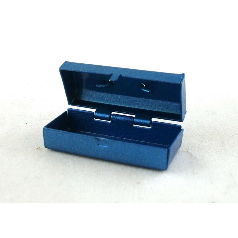 Dolls House Miniature Workmans Shed Accessory Blue Metal Tool Box