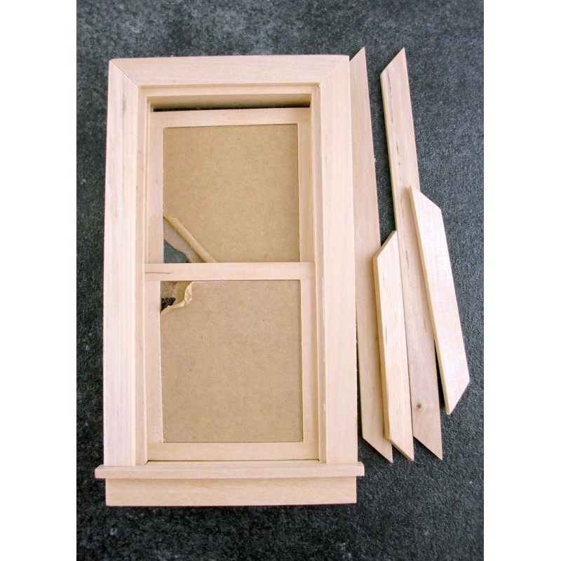 Dolls House Miniature Traditional Working Sash Window