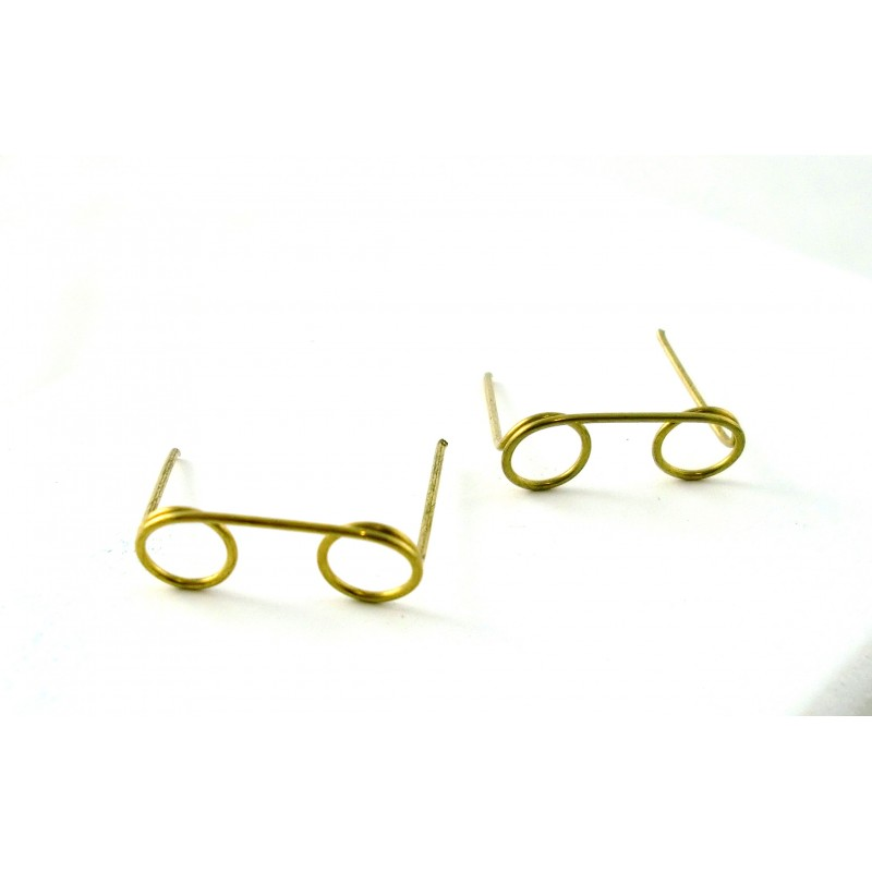 Dolls House Set 2 Brass Reading Glasses Spectacles 7259