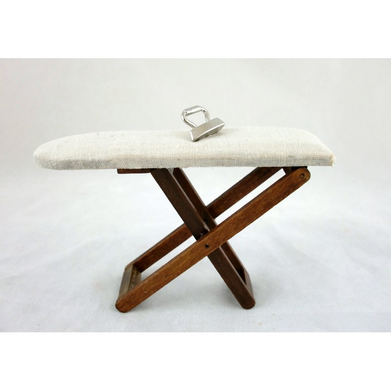 Dolls House Miniature 1:12 Scale Kitchen Laundry Accessory Ironing Board & Iron