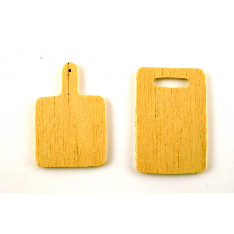 Dolls House Miniature Kitchen Accessory Wood Chopping Boards 5777