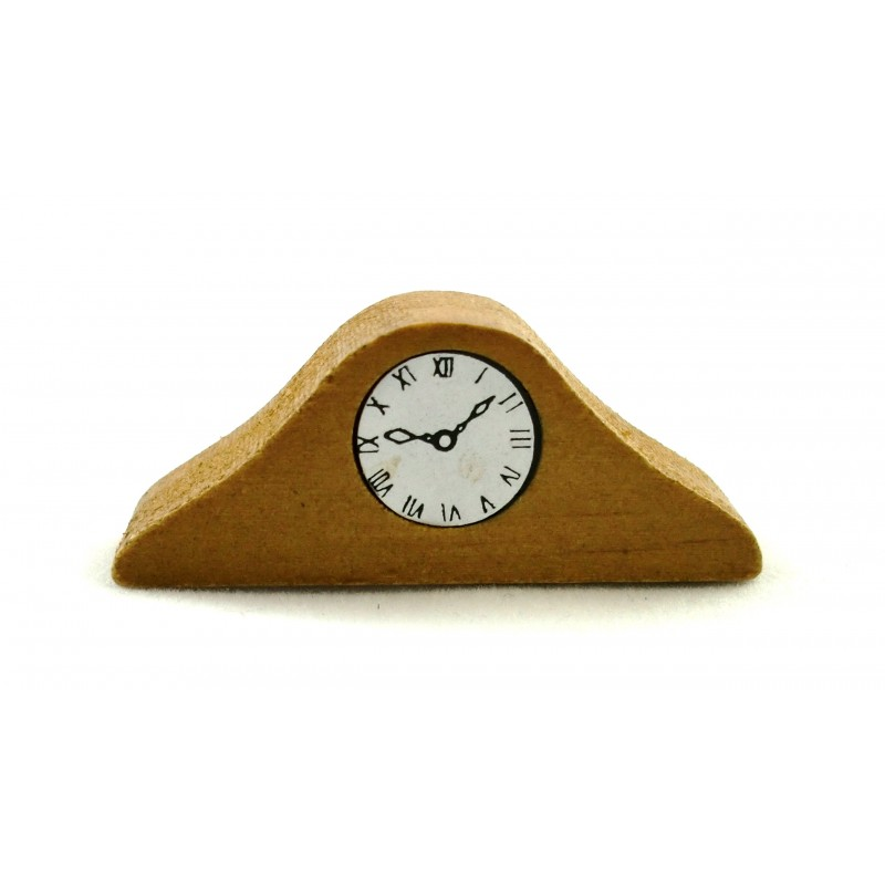 Dolls House Wooden Mantle Clock Miniature 1:12 Scale Accessory Ornamental