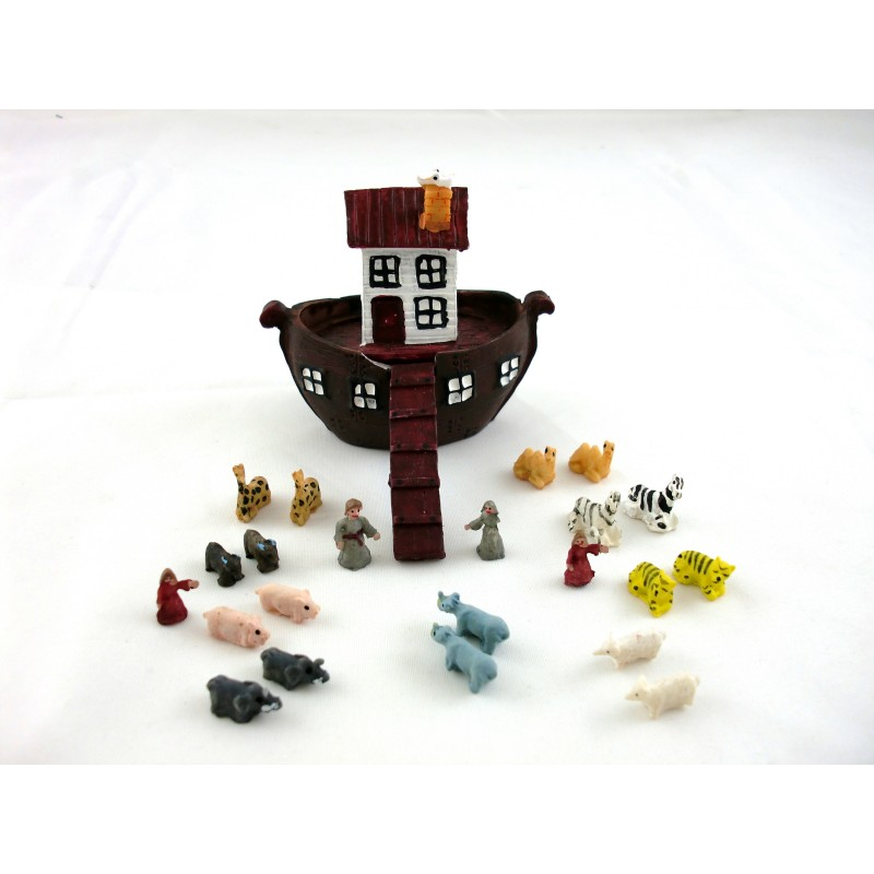 Dolls House Nursery Toy Accessory Noah`s Ark and Animals