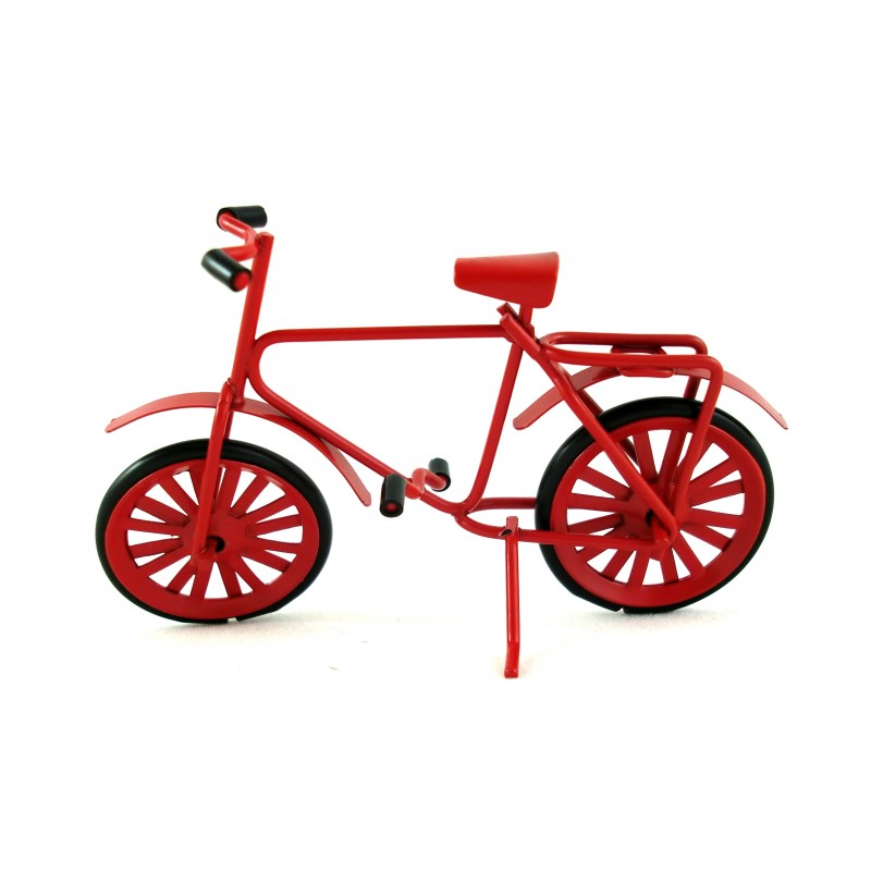 Dolls House Miniature 1:12 Scale Garden Accessory Red Metal Bicycle Bike