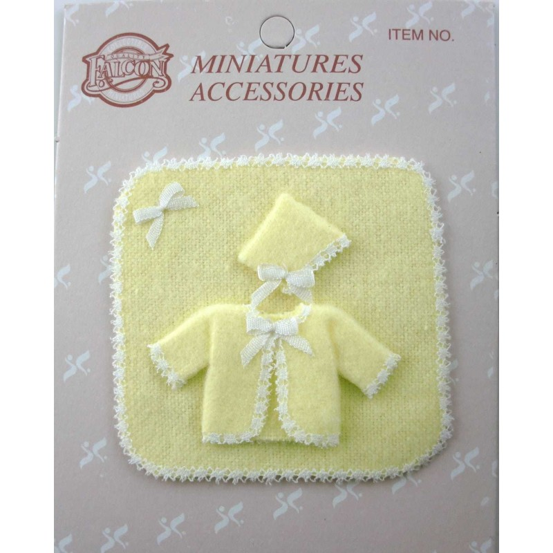 Dolls House 1:12 Falcon Miniature Nursery Accessory Baby Layette Gift Set Lemon