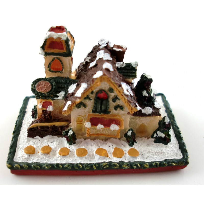 Dolls House Miniature Christmas Accessory Decoration Snowy Gingerbread House
