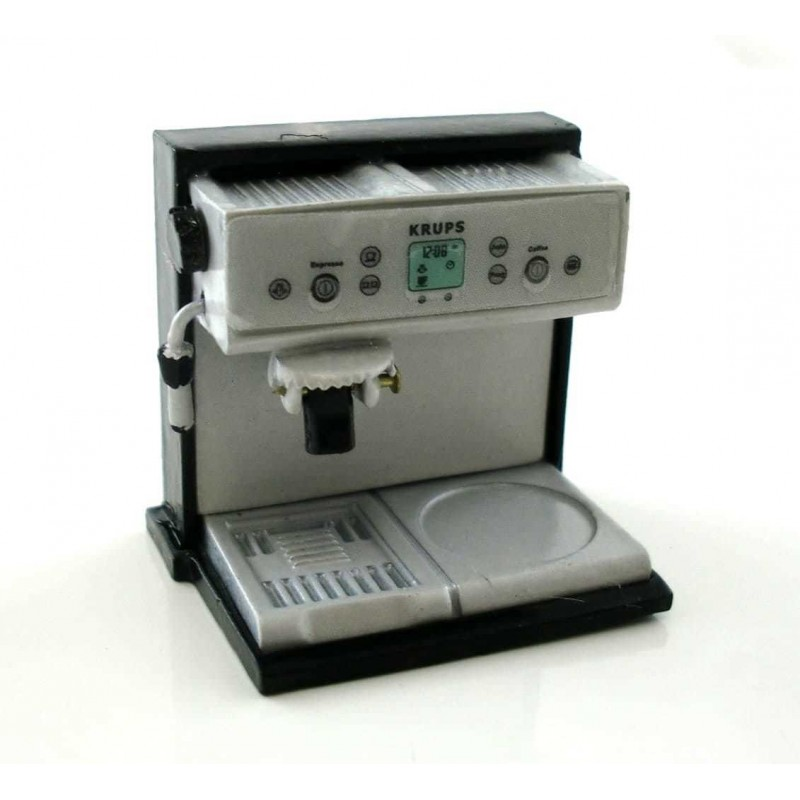 Dolls House 1:12 Scale Miniature Cafe Kitchen Accessory Espresso Coffee Machine