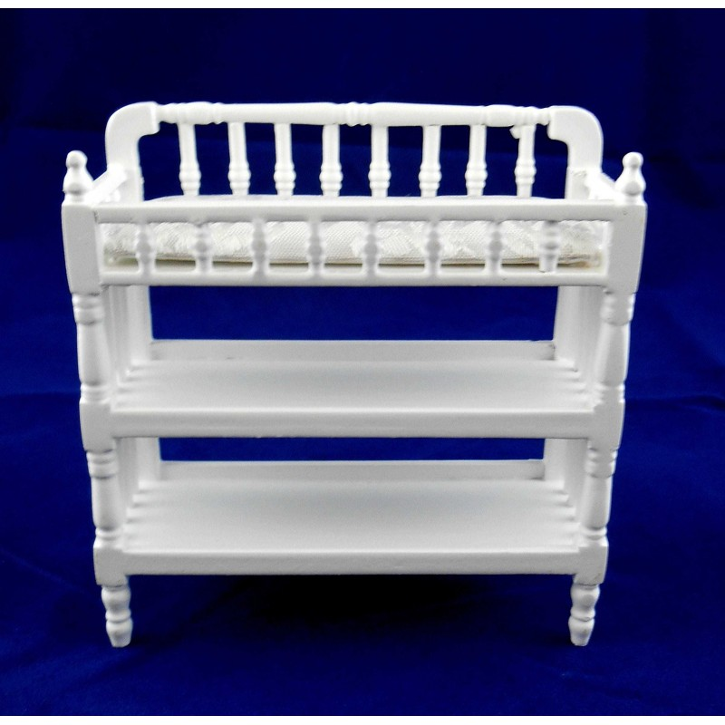 Dolls House Miniature Nursery Furniture White Victorian Baby Changing Table