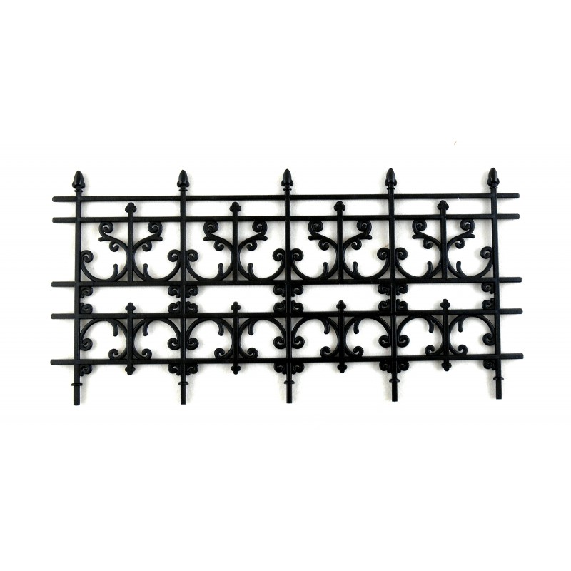 Dolls House Miniature Outdoor Fixture Accessory Black Victorian Railings Fence