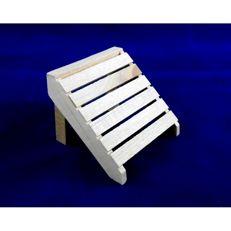 Dolls House Miniature 1:12 Scale Garden Furniture Natural Wooden Foot Rest Stool