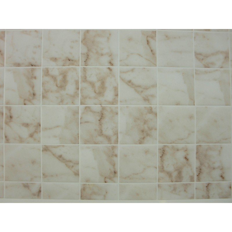 Dolls House Miniature Flooring White Marble Tile Sheet