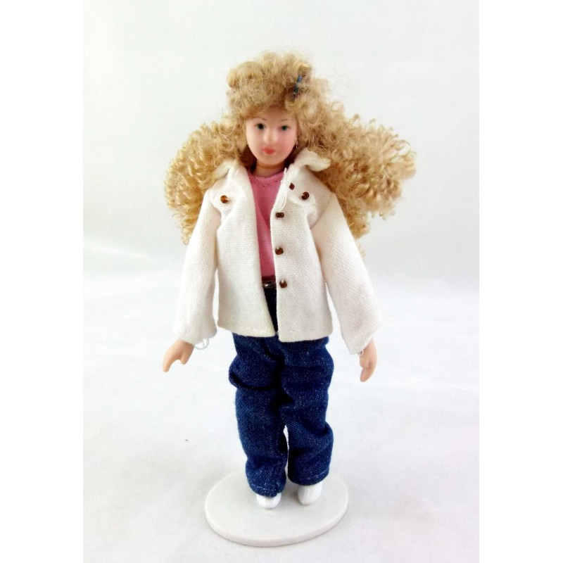 Dolls House Miniature People 1:12 Scale Modern Porcelain Lady Woman Mother