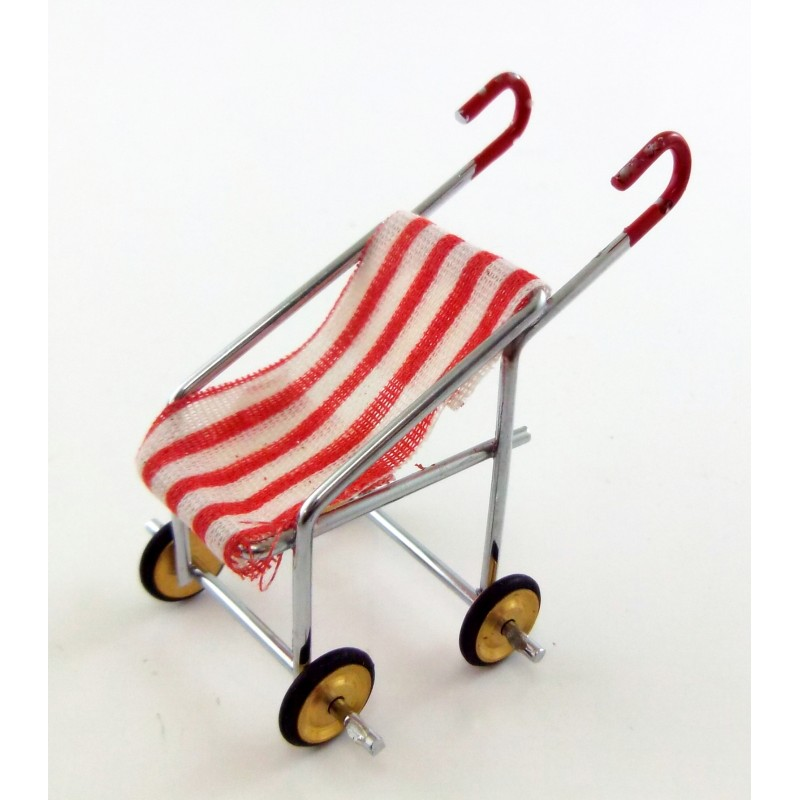 Dolls House Miniature Nursery Accessory Baby Buggy Pushchair 6035