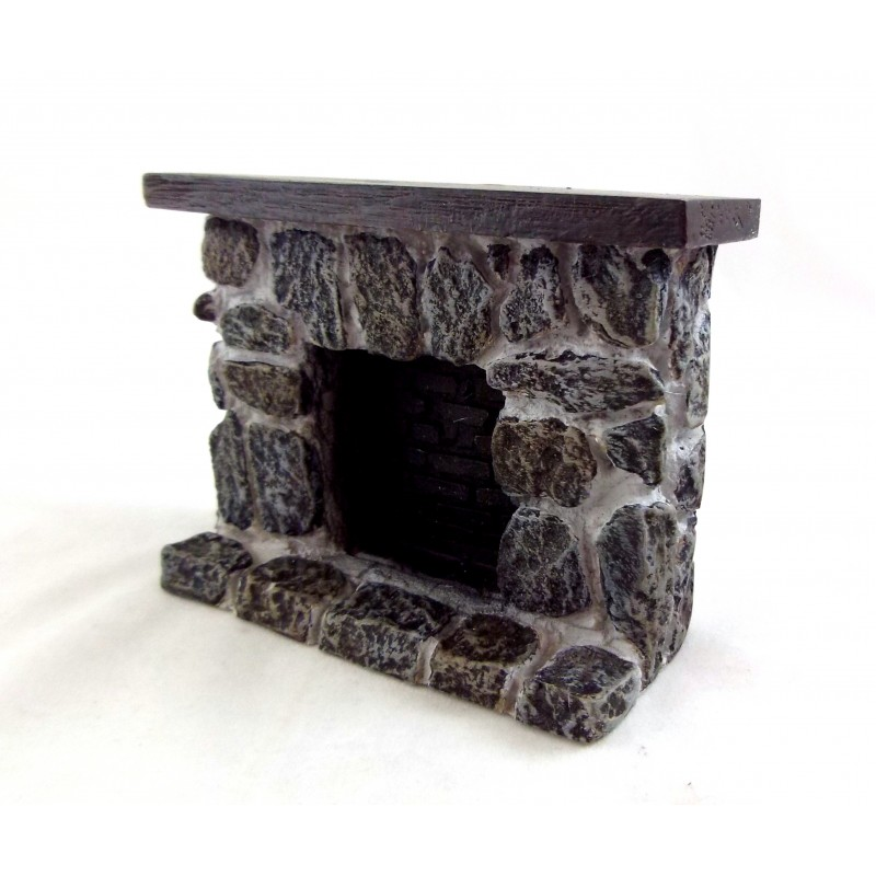Dolls House 1:12 Scale Miniature Furniture Resin Stone Fieldstone Fireplace