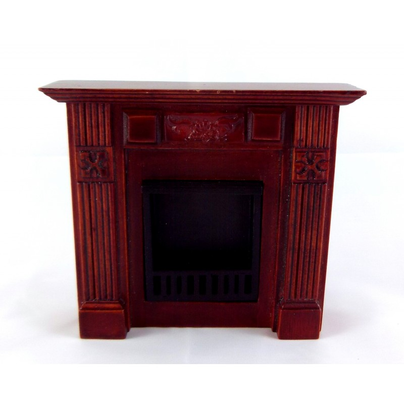 Dolls House Miniature 1:12 Furniture Mahogany Small Victorian Bedroom Fireplace