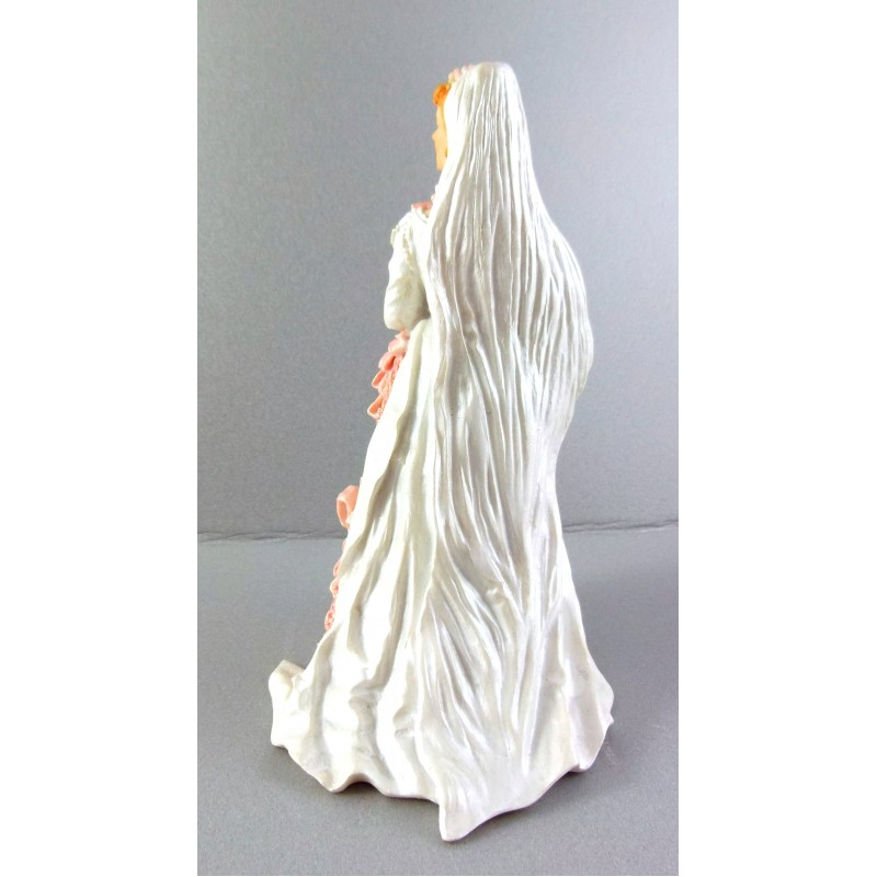 Dolls House Miniature 1:12 Scale Resin People Lady in Wedding Dress Bride 8227