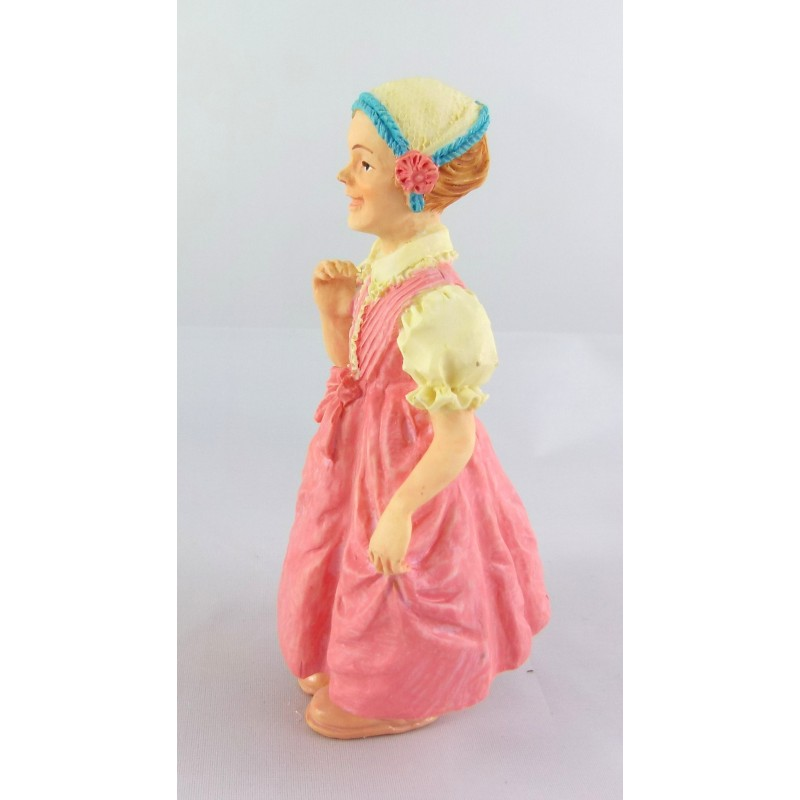 Dolls House Miniature 1:12 Scale Resin People Victorian Working Class Girl