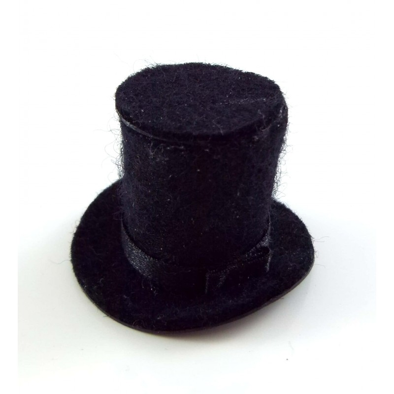 Dolls House Miniature Hand Made Accessory Gentlemans Top Hat