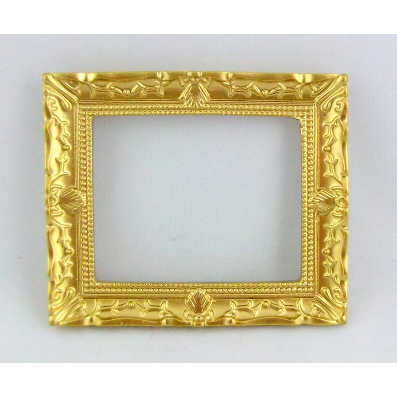 Dolls House Miniature 1:12 Scale Accessory Empty Gold Picture Painting Frame
