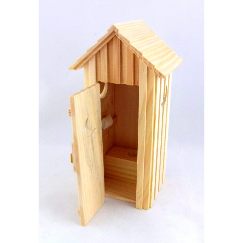 Dolls House Miniature 1:12 Scale Outside Toilet Shed Outhouse Outbuilding Privy