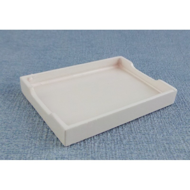 Dolls House Miniature 1:12 Scale Accessory White Wooden Maids Breakfast Tray