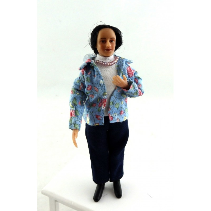 Dolls House Miniature 1:12 People Merry Meeting Modern Woman Lady Gabriella Diaz
