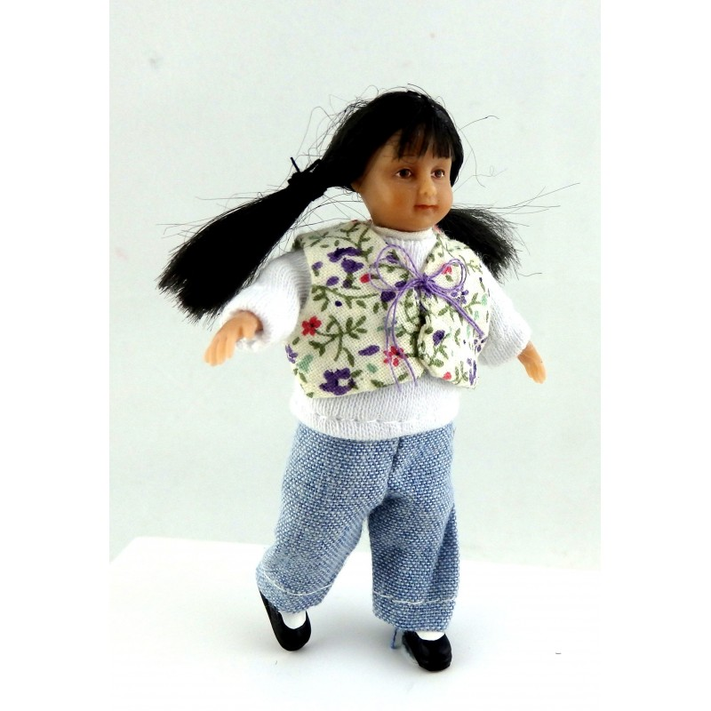 Dolls House Miniature 1:12 Scale People Merry Meeting Modern Little Girl Brianna