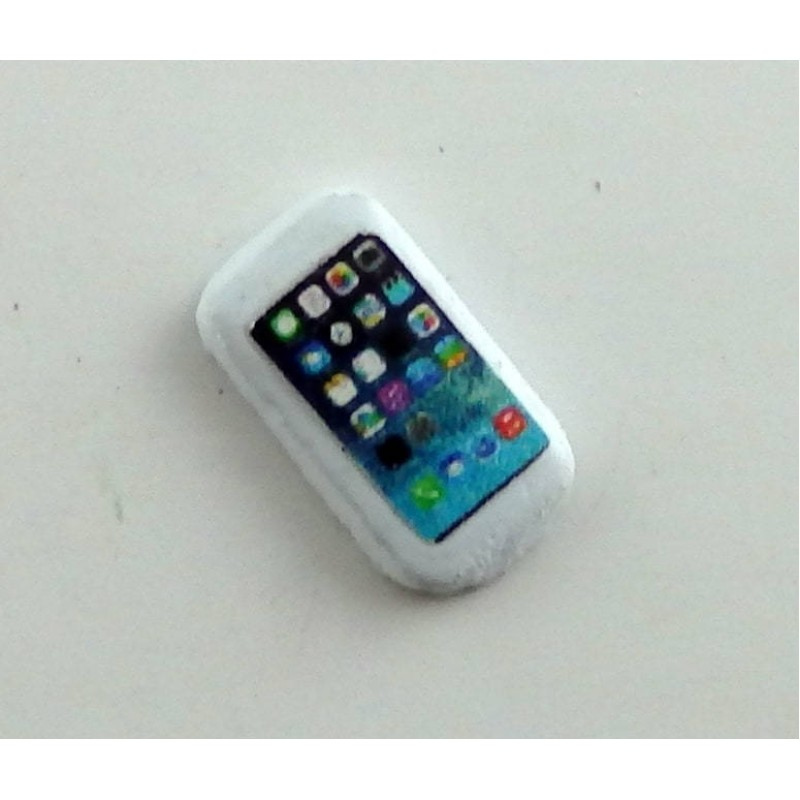 Dolls House Miniature Modern 1:12 Scale Accessory Mobile Cell Phone in White