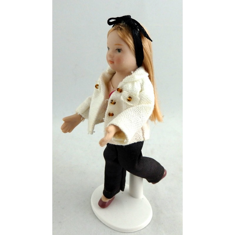 Melody Jane Dolls House Miniature Figure Porcelain People Young Girl Modern