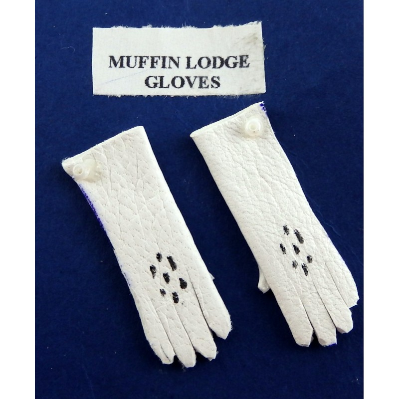 Dolls House Miniature Shop Doll Accessory Victorian Lady's Gloves in White