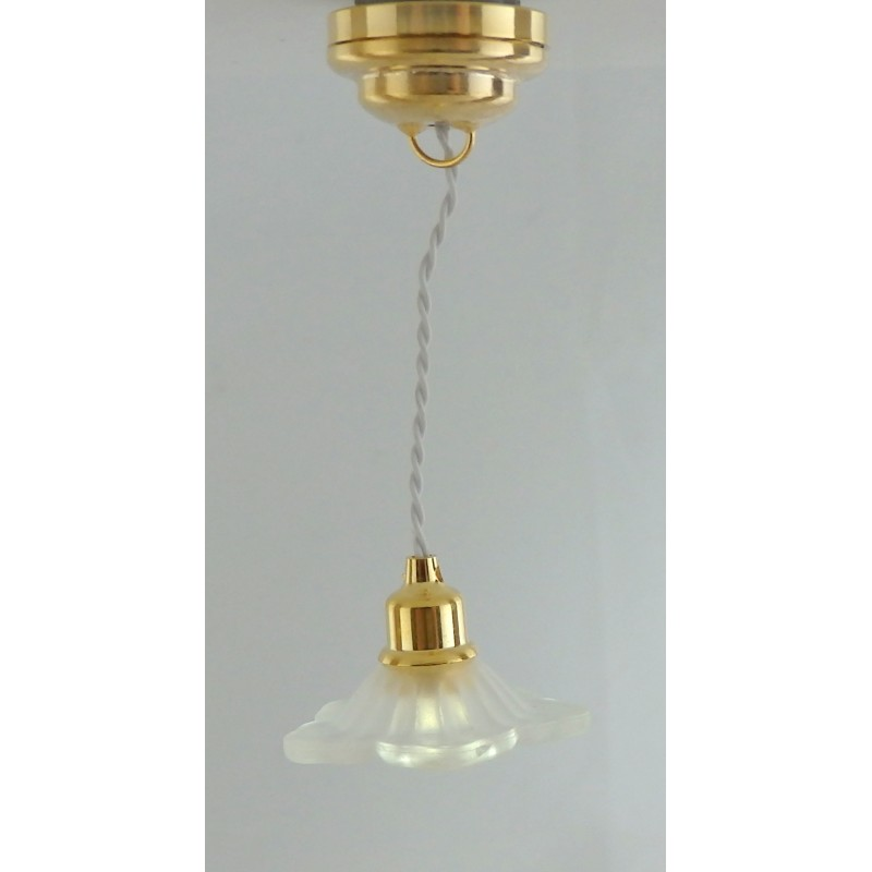 Dolls House Flower Ceiling Lamp Miniature Lighting LED Battery Light