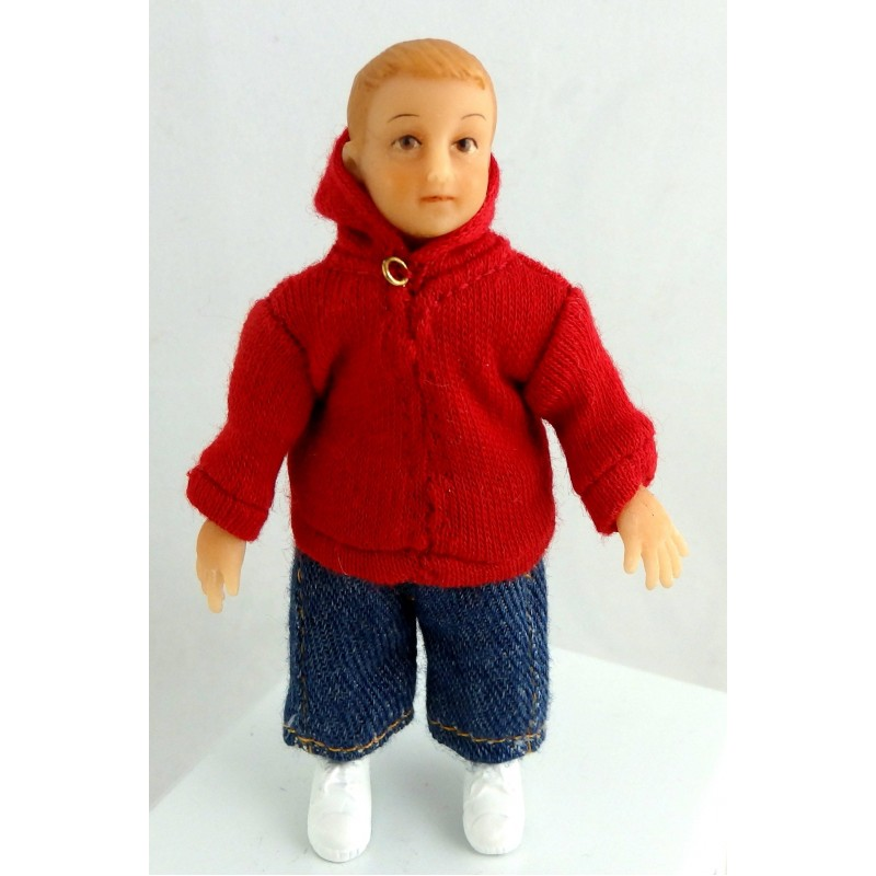 Dolls House Miniature 1:12 People Merry Meeting Modern Boy Christopher Donnelly