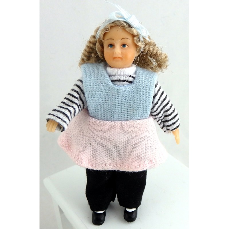 Dolls House Little Girl Susannah Donnelly Merry Meeting 1:12 Scale People