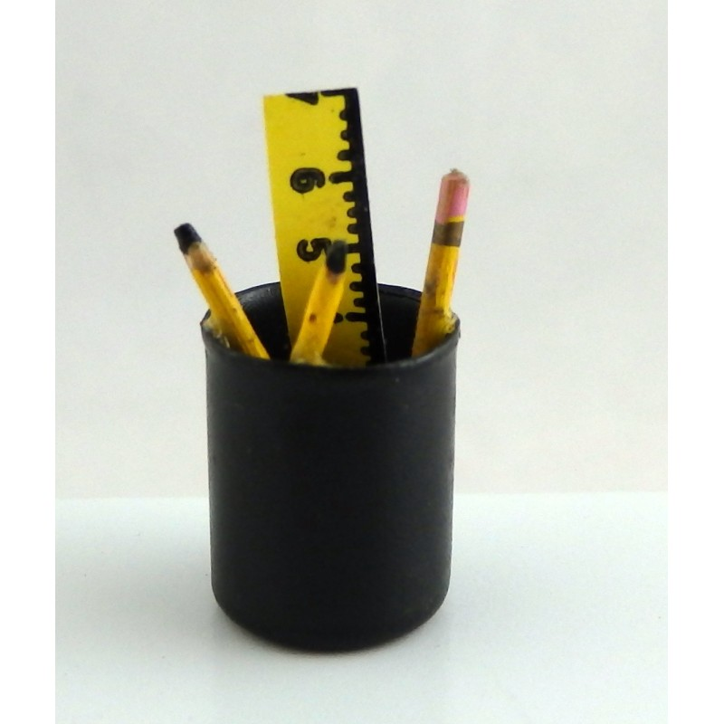 Dolls House Pens Pencils in Pot Miniature Office Study School Desk Accessory