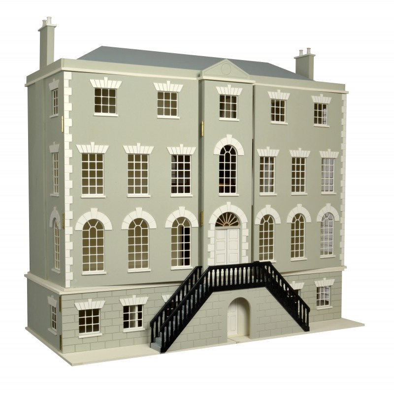 Country Manor Dolls House & Basement with 8 Rooms 1:12 Scale Flat Pack MDF Kit