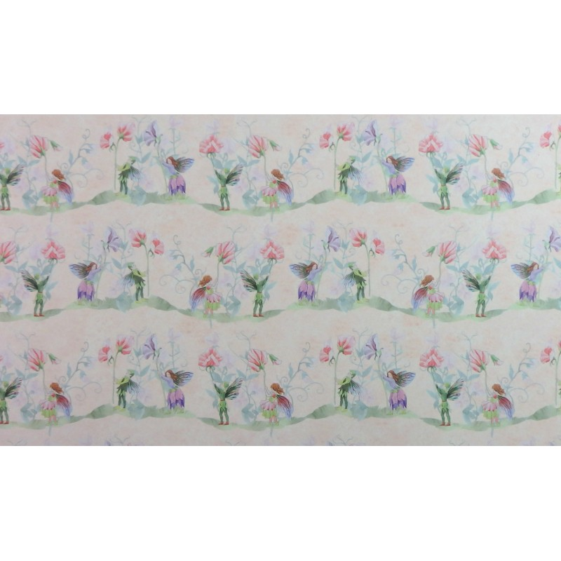 Dolls House Miniature Print 1:12 Scale Fairy Sweet Pea Wallpaper