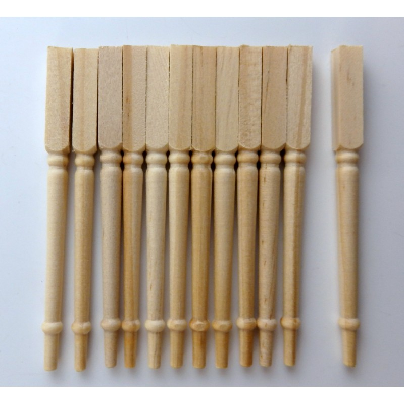 Dolls House Miniature DIY Builders Timber Merchants Staircase Spindles Balusters