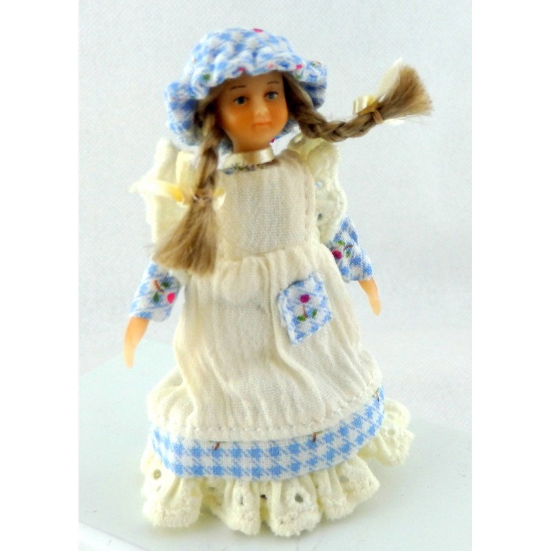 Dolls House Miniature Victorian People Merry Meeting Little Girl Kristen Peterson
