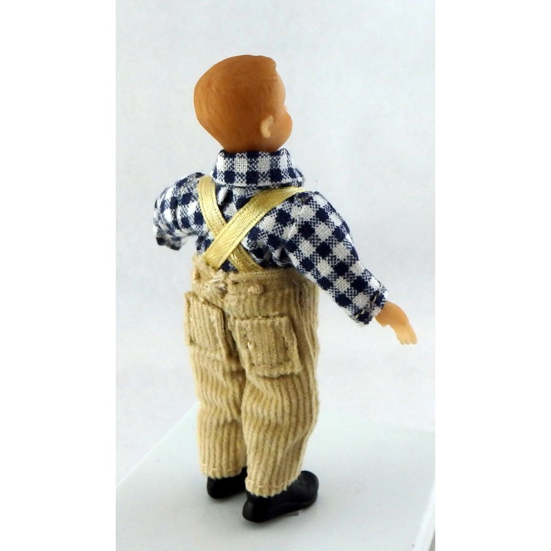 Dolls House Miniature Victorian People Merry Meeting Boy Karl Peterson
