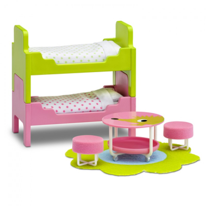 Lundby Smaland 1:18 Dolls House Bunk Bed Children's Room Furniture Play Set