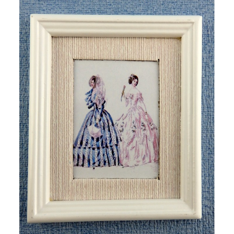 Melody Jane Dolls House Miniature Accessory Summer Fashion Painting White Frame