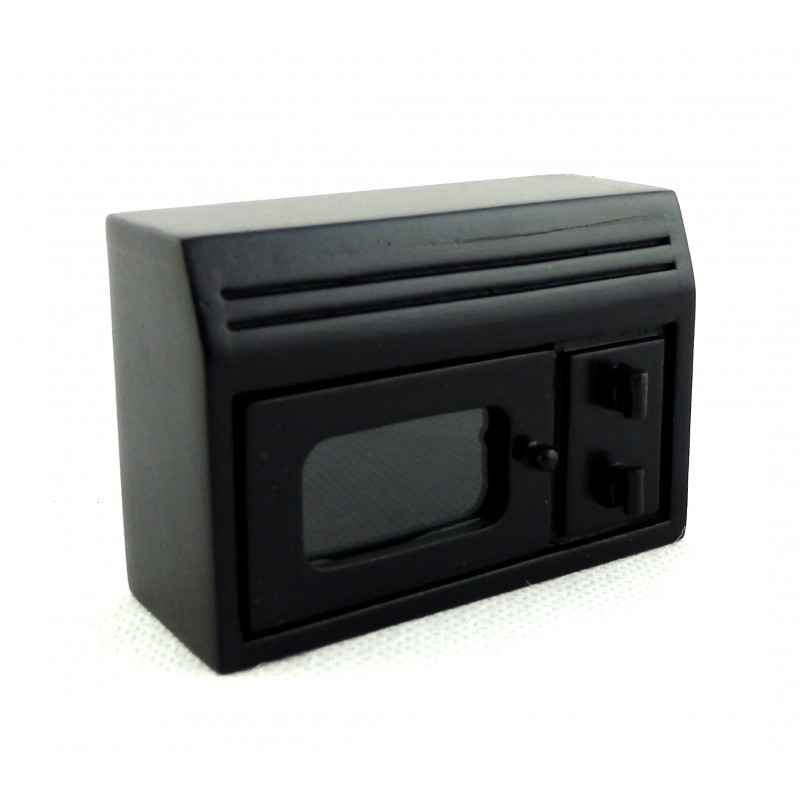 Dolls House Miniature Modern Kitchen Appliance Accessory Black Microwave