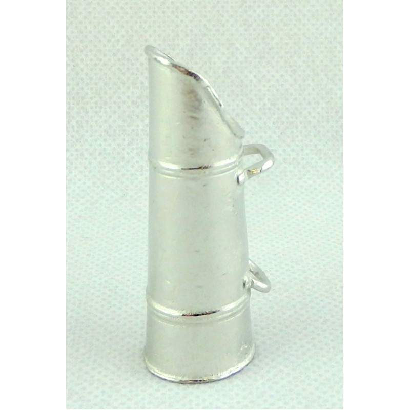 Dolls House Miniature Fireplace Accessory Pewter Coal Hod Carrier Holder 1:12