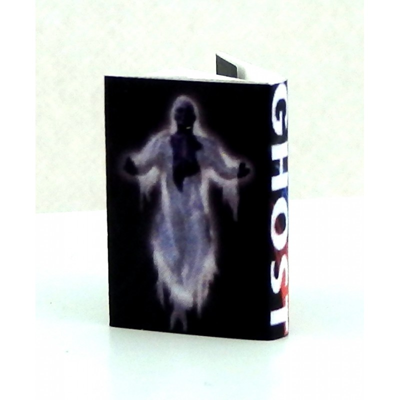 Dolls House Miniature Halloween Accessory Ghost Stories Book with Printed Pages