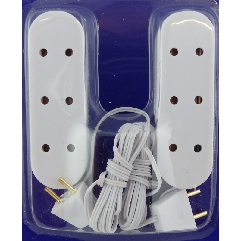 Dolls House Lighting Spare Part 2 Triple 3 Socket Extension Leads
