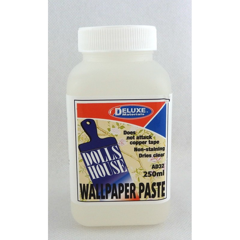 Melody Jane Dolls House Deluxe Wallpaper Paste - 250ml - Non-stain Dries Clear